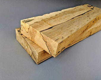 Thick Reclaimed Rustic Birdseye Spalted Maple, Salvaged From Wisconsin Forests, Floating Shelves