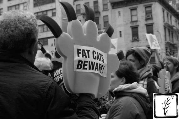 """Fat Cats Beware,"" New York City Women's March, 2017."