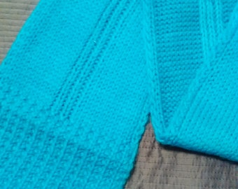 Deep Blue Wool Blend Scarf