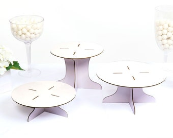 Three Piece Dessert Stand Set - DIY Round Display Stand