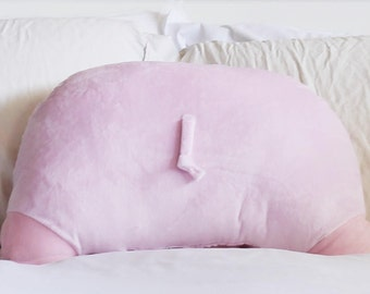 Pig Booty Pillow - Back Pocket - Pig Lover - Pig Butt - Pig Gifts - 22 x 16 in