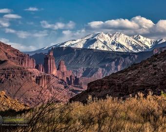 Fisher Towers Moab Utah Fine Art Print