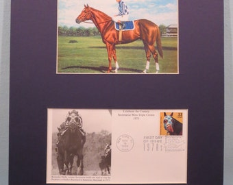 Secretariat wins the Triple Crown & First day Cover honoring Secretariat