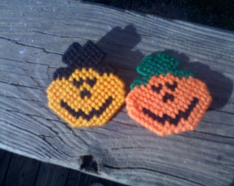 Jack O'Latern Pins for Halloween 2 for One Dollar
