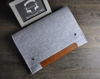Macbook 15 inch sleeve, Macbook Pro case, Macbook 15 case, felt laptop 15 sleeve, cork laptop case 15, Macbook pro Retina 15 BN003