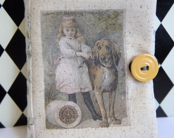 Needle Book/Keep with Vintage Sewing Thread Ad ~ OOAK