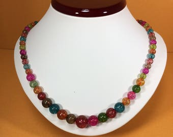 SALE 30% , Quartz Necklace, Rainbow Quartz Gemstone Necklace , gemstone Necklace , Birthstone Necklace , April Birthstone Necklace