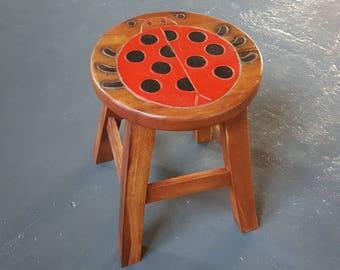 Wooden child stool