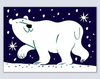 Polar Bear Greetings Card