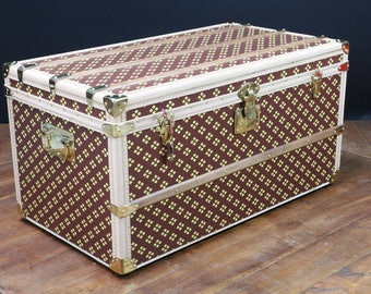 "Steamer Trunk Monogram from ""Aux Etats-Unis"""