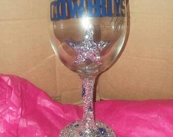 Cowboys Girl Wine glass