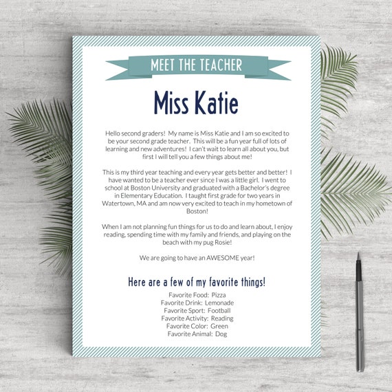 Elementary teacher resume template for word pages 1 3 elementary teacher resume template for word pages 1 3 pages meet the teacher letter instant download teaching resume cv teacher pronofoot35fo Choice Image