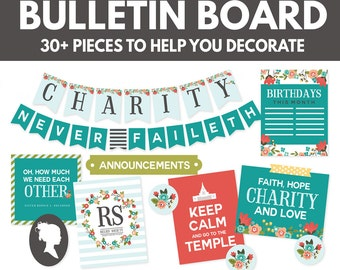 LDS Relief Society Bulletin Board Printables