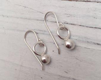 Drop Recycled Sterling Silver Earrings #soulfuljewels #131