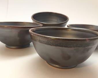Grey Soup Bowls, Set of 4