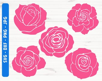 Rose SVG Rose clopart svg dxf png jpg Commerial use svg Digital file Rose buds Cut files