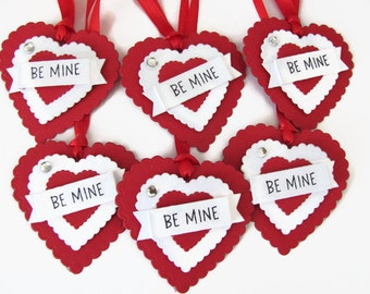 Red Valentine's Day Tags, Valentine's Day, Favor Tags, Heart Gift Tags, Valentine Tags, Valentine Gift Tags, Valentine's Day Tags, Heart tag