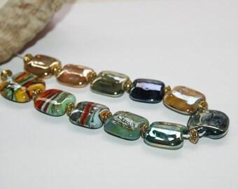 Lampwork beads, glass beads, artist beads, nature, handmade glass beads,