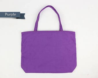 Purple Tote bag,canvas tote bag,Zipper Tote Bag,mom tote bag,gift