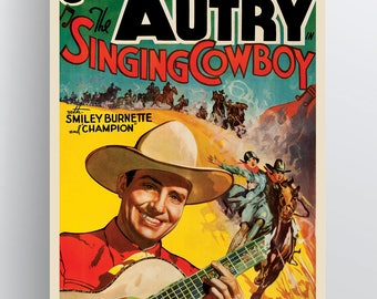 The Singing Cowboy (Gene Autry) 1936 Movie Poster 20x30 & 24x36 Poster Paper or Giclée Fine Art Print w/ Free Shipping