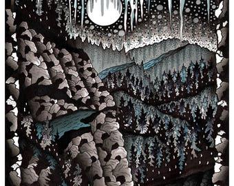 Freezing Moon Print