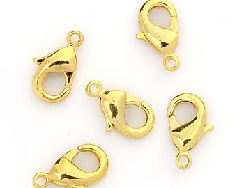 Golden snap closures, 12 x 6 mm, multiple sets to choose from