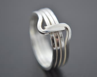 Sterling Silver Sculptured Wrap Around Ring