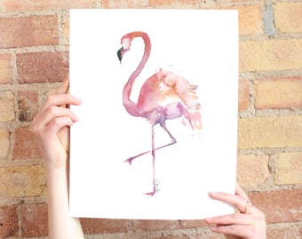 Watercolor flamingo (available in multiple sizes)