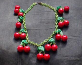 Cherry necklace 1950s