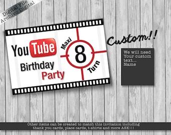 Youube video birthday Poster