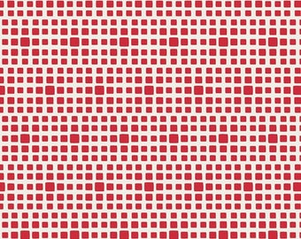 Fat Quart of Pomegranate Squared Elements Check Squares By Art Gallery Fabrics
