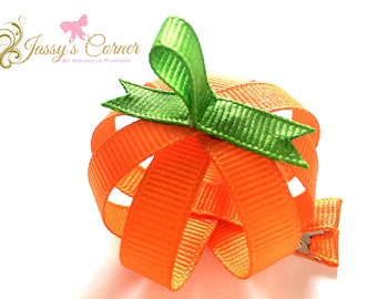 Ghost, Pumpkin and Candy Corn Ribbon Sculpture