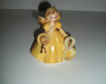 Vintage Josef Originals Birthday Angel 8, made in Japan