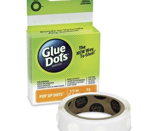 "Glue Dots POP-UP 1/2"" with 1/8"" in height 75 on roll"
