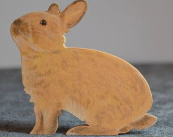 Hand painted red/brown Bunny