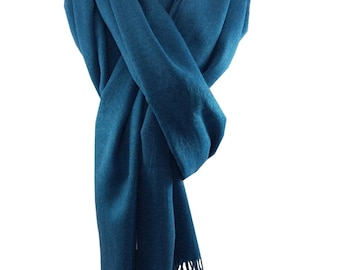 Ladies Luxury Silky Feel Pashmina Scarf/Shawl/Wrap For Day To Evening Occasions (Teal)
