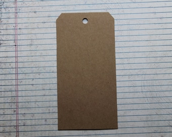 """5 bare chipboard shipping tag style die cuts 3 1/8"""" wide x 6 1/4"""" tall"""