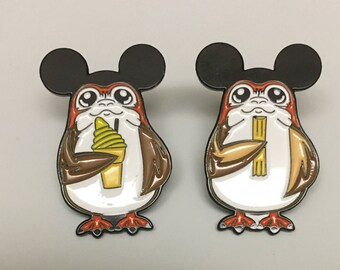 Series 1 - Porgs On Vacation At The Happiest Place On Earth Lapel Pin