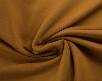 Cuff ochre, ocher, dark yellow, plain, 0,27 yards per piece