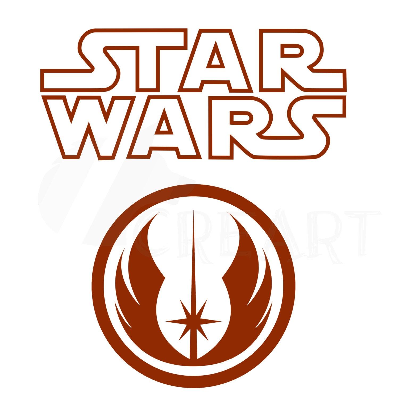 star wars silhouette jedi order logo printable clipart file in svg rh etsystudio com star wars free vector star wars alliance logo vector