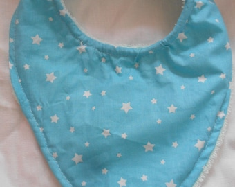 Blue bandana bib and stars