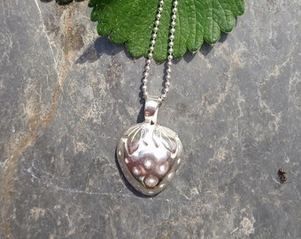 Sterling silver strawberry pendant