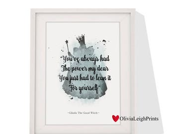 Glinda The Good Witch art print Instant Download