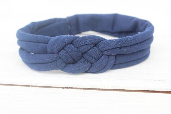 Baby Headband, Knot Headband, knot headband baby, top knot headband,  Baby Headband, navy blue Headband, Braid Headband, Infant Headbands
