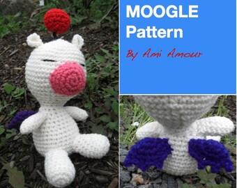 Moogle Pattern Amigurumi Crochet Doll PDF