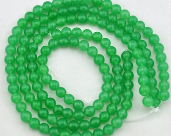 8mm Green Jade Beads,Jade Beads,One Full Strand,Gemstone Beads---About 48 Pcs---15inches------M0058