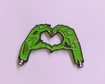 Zombie Love Enamel Pin