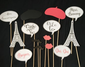 Paris Themed Photo booth props