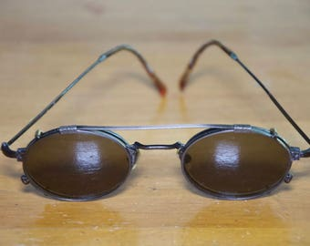 Vintage Japanese Rx Glasses with Removable Sunglass Fronts