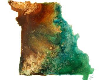 Missouri Topography Print